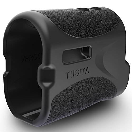 TUSITA Protective Cover for TecTecTec VPRO500 / VPRO500S Slope , Replacement Silicone Case Skin Accessories for TecTecTec Golf Laser Rangefinder (Black)