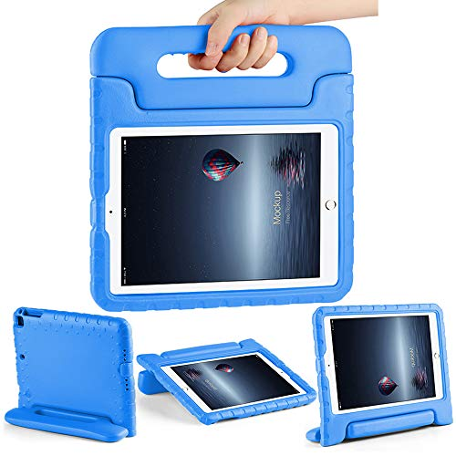 CAM-ULATA Case for 9.7 iPad Kids 2018/2017 for iPad Air 1 Air 2 Tablet Kids Shockproof Handle Cover 5th 6th Generation 9.7 inch with Folio Stand Blue (Best Ipad Air 1 Case)
