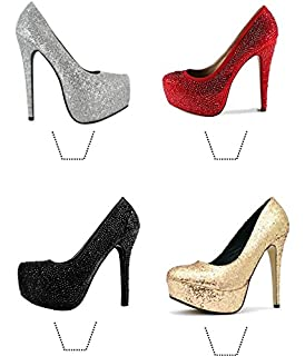 f5dabee91a629 Amazon.com: Stiletto High Heel Shoe Cake Topper Lay Ons. Set of 6 ...