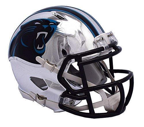 Carolina Riddell Replica Helmet Panthers (Carolina Panthers Helmet Riddell Replica Mini Speed Style Chrome Alternate)