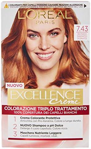 LOREAL Excellence7,43 Rubio No Cobre Dorado - Tinte Para El ...