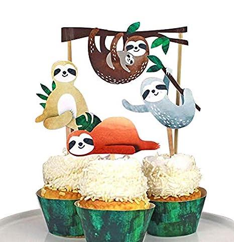 Adorno para tarta con diseño de perezoso, decoración de ...