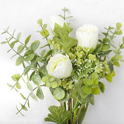 LI-HUA-CAT-Simulation-Flower-Small-Dew-Lotus-Gypsophila-Eucalyptus-Leaves-Bouquet-Artificial-Flower-Plant-Home-Wedding-Green-Plant-Decoration-White