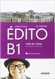 LE NOUVEL EDITO B1 ELEVE+CD+DVD - 9788490492062: Amazon.es