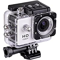 30M Waterproof Sport Action Camera WiFi 1080P Full HD Bicycle Helmet Car White