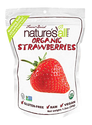 Nature's All Foods Organic Freeze Dried Raw Strawberry -- 1.2 oz - 2pc