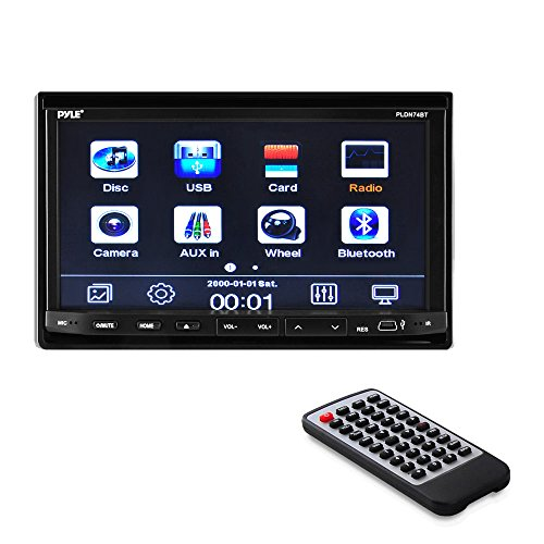 harga Pyle PLDN74BT Headunit Receiver 7-Inch Stereo Radio, Bluetooth, CD/DVD Player, Touch Screen, Double DIN Hargadunia.com