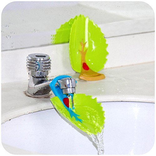 YOYL Faucet Cover Leaf Design Safety Faucet Extender For Children Toddler Kids Hand Washing Baby Kids Hand Wash Helper Bathroom Sink(2PCS/Pack)