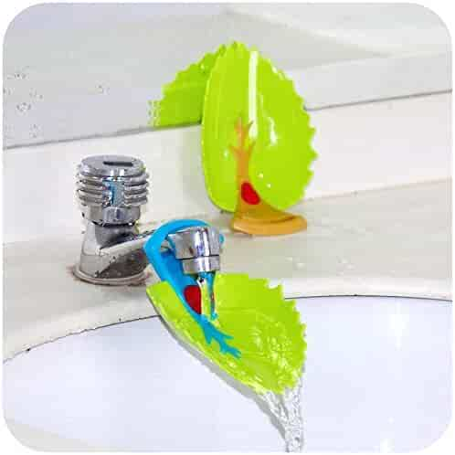 Faucet Cover, Leaf Design Safety Faucet Extender For Children Toddler Kids Hand Washing Baby Kids Hand Wash Helper Bathroom Sink(2PCS/Pack)