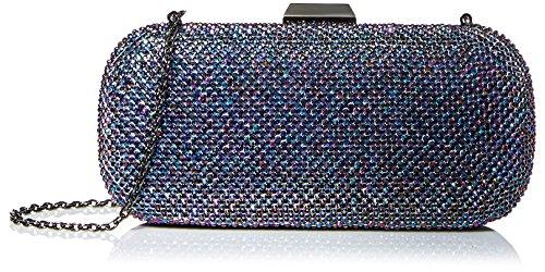 Beaded Regale Handbag La (La Regale Women's Oversize Fully Beaded Minaudiere, Navy clutch)
