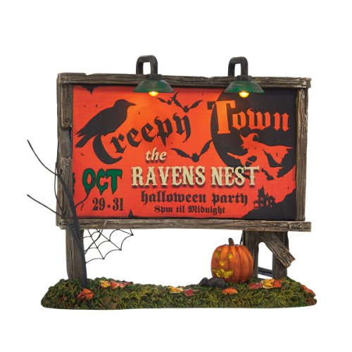 Department 56 Accessories for Villages Creepy Town Lit Billboard Accessory Figurine, 1.77 inch