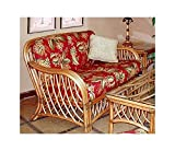 Wicker Frame Loveseat with Cushions (Solar Kiwi (All Weather))