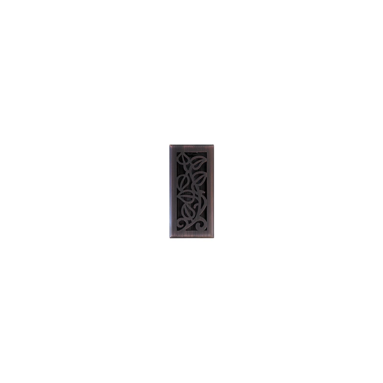 Imperial Mfg Group Usa RG3279 Vine Floor Register, Oil Rubbed Bronze, 4 x 10-In. - Quantity 5