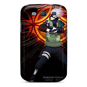 Shockproof Hard Phone Covers For Samsung Galaxy S3 With Provide Private Custom Nice Naruto Shippuden Kakashi Hatake Pattern Icase88