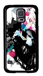 Samsung S5 case cute Abstract Woman PC Black Custom Samsung Galaxy S5 Case Cover