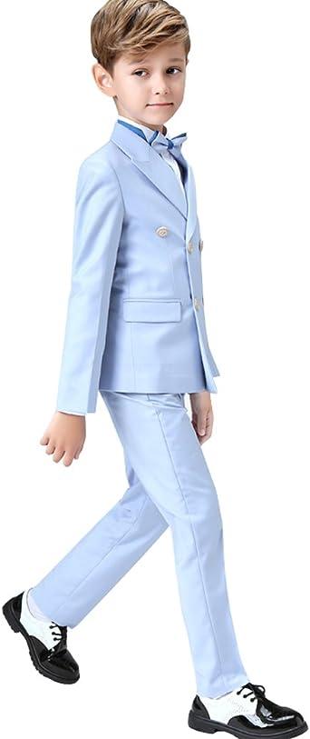 Kelaixiang Boys Black Modern Fit Suit Set 2Pcs Prom Vest Pants for Wedding Special Occasion