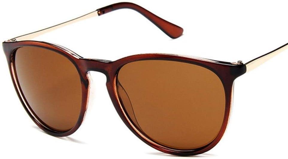 Yi-xir diseño Clasico Vintage Retro Espejo Gafas de Sol Mujeres diseñador de la Marca Gato Ojo de Sol Gafas de Sol Leopardo Protección reflejada Moda (Lenses Color : Brown)