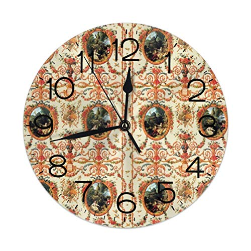 - TMVFPYR Marie Antoinette Rococo Lovers Seasons Wall Clock Silent & Non-Ticking Round Clock Quiet Desk Clock for Home Office School