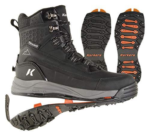 Korkers Men's Snowmageddon 400g Waterproof Winter Boots (10.5) Black