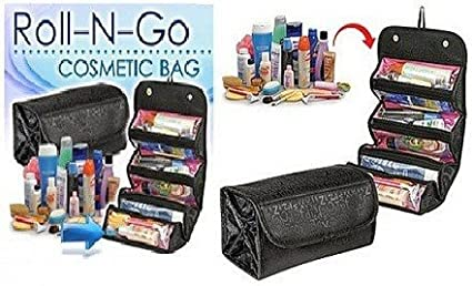 24746ee9b580 Amazon.com : Tuzech Portable Large Cosmetic Bag (Roll And Go) For ...
