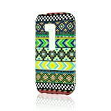 LiViTech(TM) Chevron Fabric Print Design Rubber Coating Hard Case Cover for Nokia Lumia 822 (Green)
