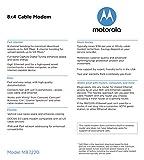 MOTOROLA 8x4 Cable Modem, Model MB7220, 343 Mbps