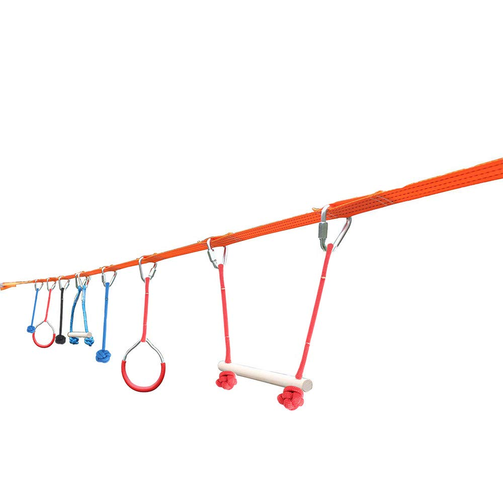 DIYARTS Outdoor Swing Climbing Kit Children Fitness Equipment Expand Balance Training Fun Toys Multifunctional Family Fitness Suit for Child Kids by DIYARTS