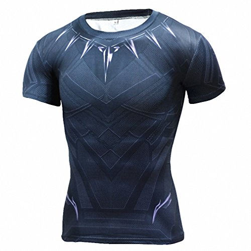 Deer God Costume (Fitness Compression Shirt Men Anime Superhero Punisher Skull Captain Americ 3D T Shirt Bodybuilding Crossfit tshirt Aisan L)