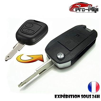 Kit de transformación CLE PLIP Peugeot 106 206 306 2 botones conversión @Pro-Plip.