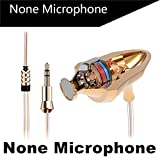 RedSonics Brand Earphone Universal M4 Earbuds Super Bass Professional Headset with Microphone for Gaming auriculares PC[ Gold NO Microphone ]
