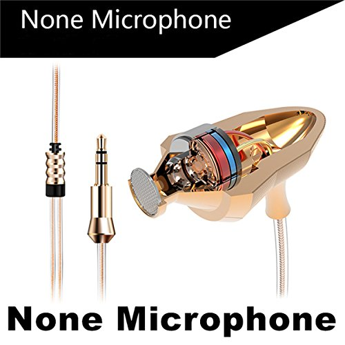 RedSonics Brand Earphone Universal M4 Earbuds Super Bass Professional Headset with Microphone for Gaming auriculares PC[ Gold NO Microphone ] by RedSonics