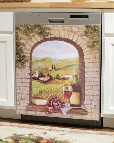 Tuscany Vineyard Wine Theme Kitchen Dishwasher Cover