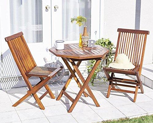 ガーデンテーブル ガーデンチェア 『 ガーデンファニチャーシリーズ フォーン /3点セットDタイプ:テーブル八角形+肘無チェア2脚/ 』 040601192 B01D122BJG