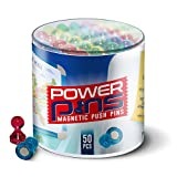 Kyпить 50 x PowerPins - Push-Pin Magnets Perfect For Home & Office [#1 Magnet For Fridges, Calendars, Whiteboards & Maps!] Handy Storage Container Included Free! на Amazon.com