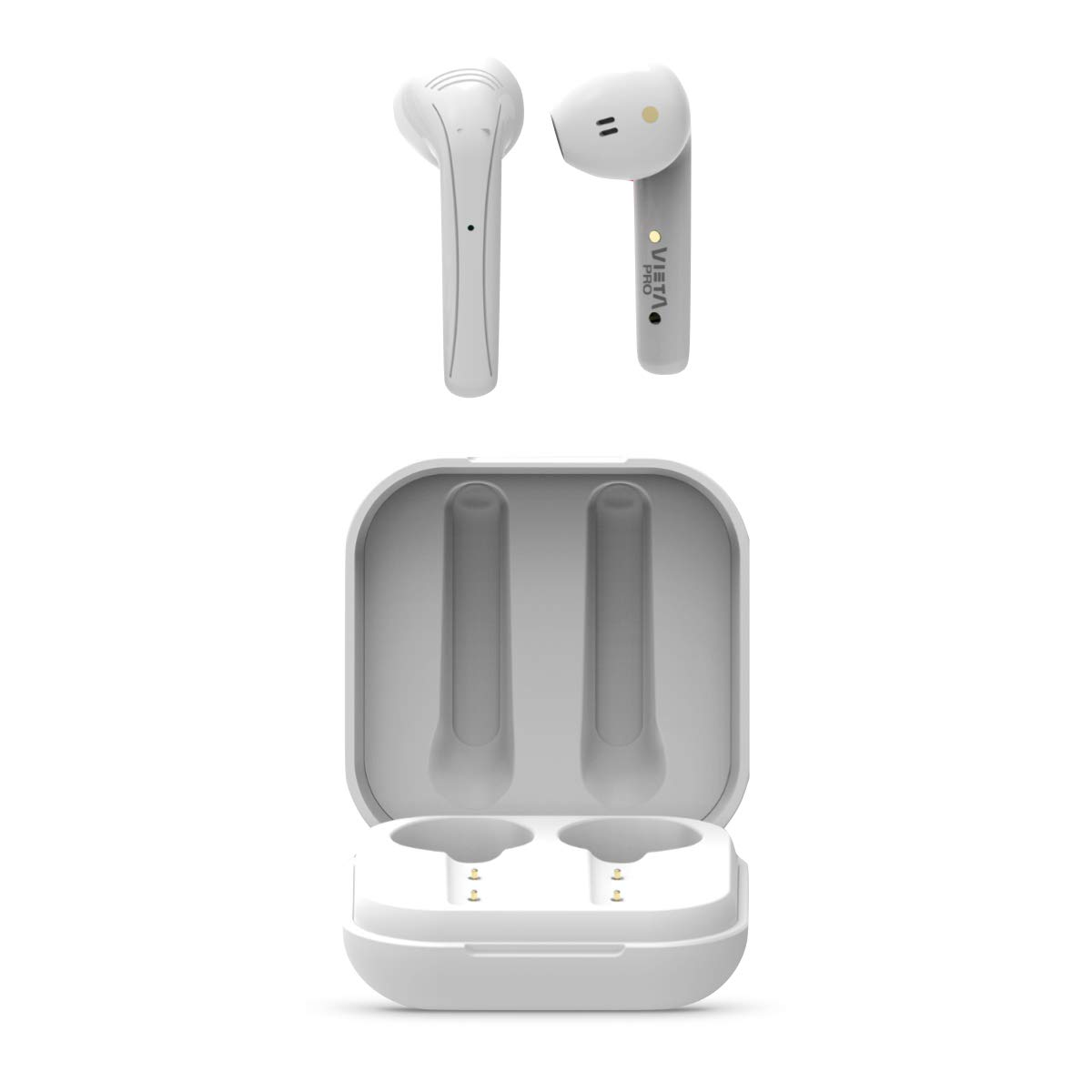 Vieta Pro On - Auricular True Wireless (Bluetooth 5.0, control táctil y 9 horas de autonomía) color blanco