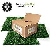 Cheap Ranka Lasting Greenery Artificial Boxwood Panels, 40″ L X 40″ W, Dark Green (3 Panels per Box, Covering 33.34 sq.ft.)