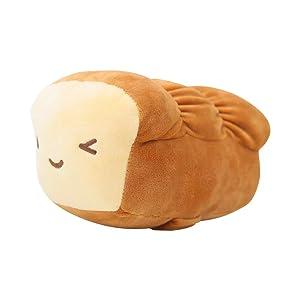 """CottonFood Food Plush Pillow Mozzi Bread 15cm(6"""") Brown"""