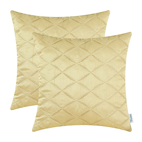 Pack of 2 CaliTime Cushion Covers Throw Pillow Cases Shells for Home Sofa Couch, Diamonds Chain  ...