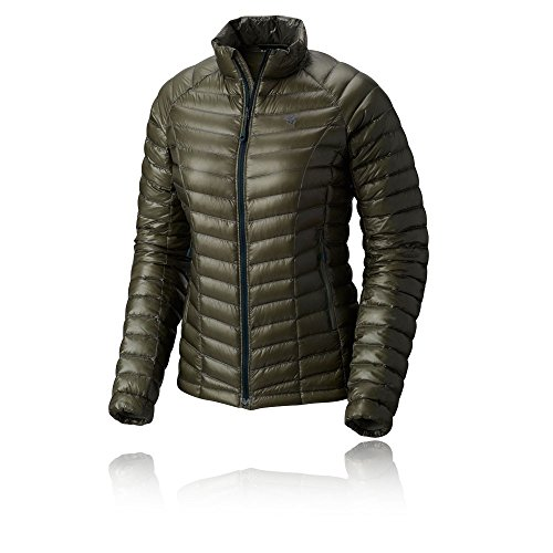 Mountain Hardwear Womens Ghost Whisperer Insulated Down Water Repellant Jacket, Non-Hood -Green Fade - XS