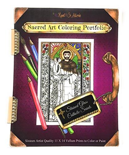 Sacred Art Coloring Portfolio - Catholic Saints by Nippert & Co. Artworks