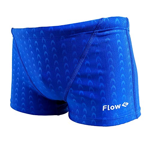 Flow Square Leg Swimsuit - Boys Youth Swim Shorts Sizes 24 to 30 in Black and Blue (Blue, 22 (21