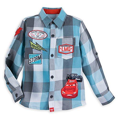 Disney Lightning McQueen and Jackson Storm Button Shirt for Boys Multi