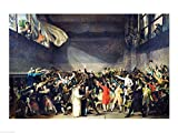 Great Art Now The Tennis Court Oath, 20th June 1789 by Jacques-Louis David Art Print, 16 x 12 inches