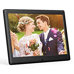 DBPOWER 7 Inch Digital Picture Frame - Upgraded Digital Photo Frame with (16:9) HD IPS Display, Photo/Music/Video Player/Calendar/Clock/Auto-On/Off Timer, Advertising Player with Remote Control, Black