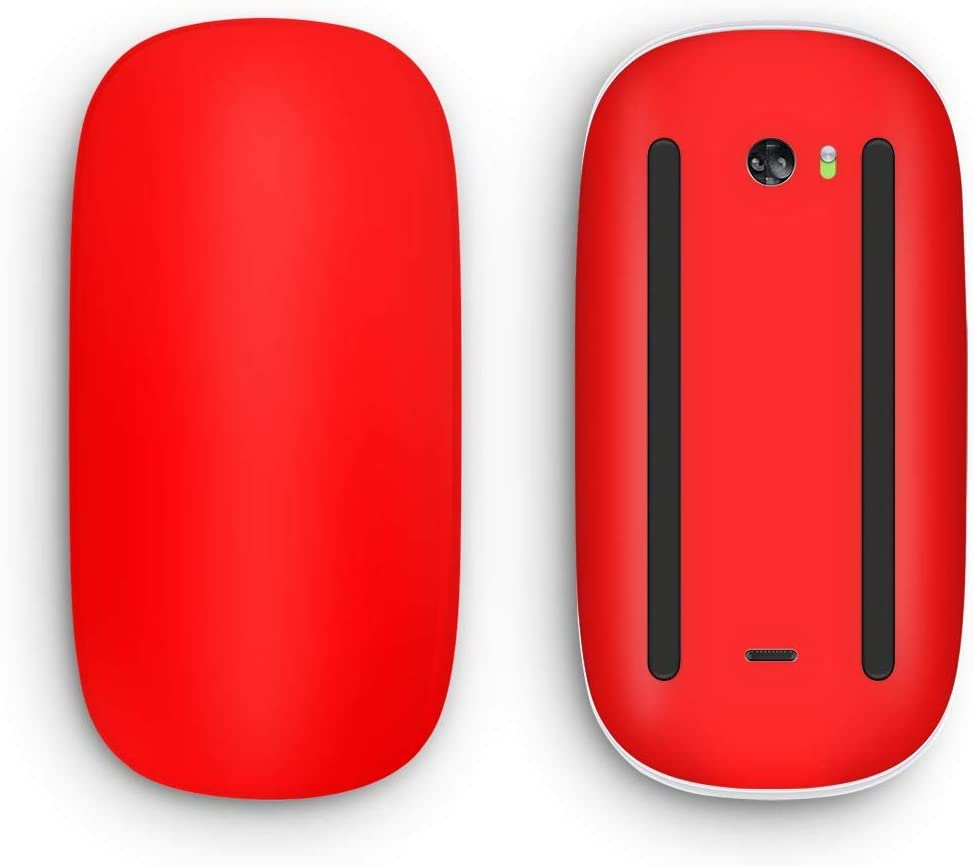 Design Skinz Solid Red Vinyl Decal Compatible with The Apple Magic Mouse 2 (Wireless, Rechargable) with Multi-Touch Surface