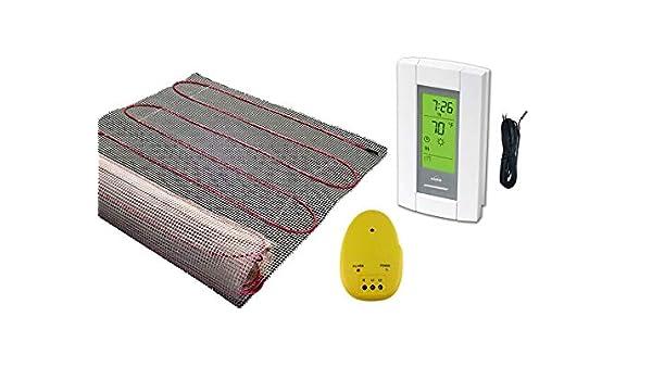 20 m2 alfombrilla, Eléctrico suelo radiante calefacción sistema de calefacción con Aube Digital termostato de sensor de suelo: Amazon.es: Jardín
