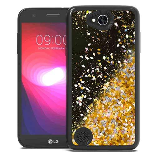 LG X Charge Case,LG Fiesta LTE Case,LG X Power 2 Case, SuperbBeast Fashion Bling Liquid Floating Glitter Sparkle Girly Black TPU Bumper Case for Girls Women Children LG LV7 (Not for LG X Power)