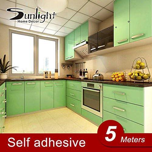 0.6*5M Vinilo autoadhesivo Rollo de papel tapiz para muebles baño cocina PVC Adhesivos muebles lámina puertas armario papel de pared: Amazon.es: Hogar