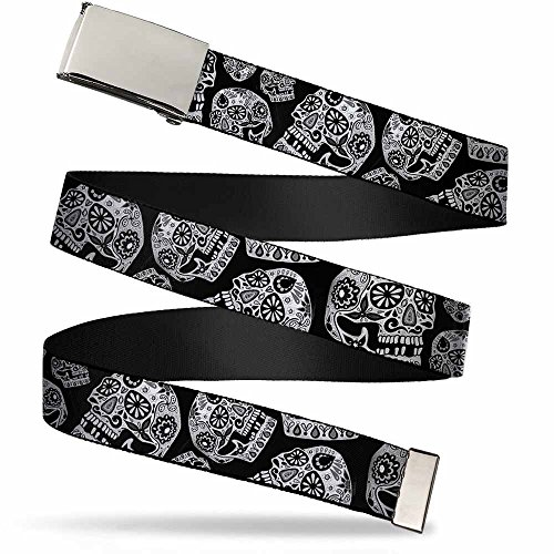 Buckle-Down Web Belt Thaneeya Sugar Skulls 1.5