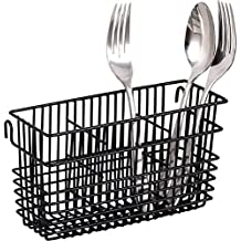 Sturdy Utensil Drying Rack Basket Holder (Black) by Neat-O